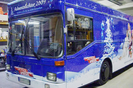 Bus-Beschriftung für die Weihnachts-Promotion-Tour des MDR Sachsen Spiegel_72