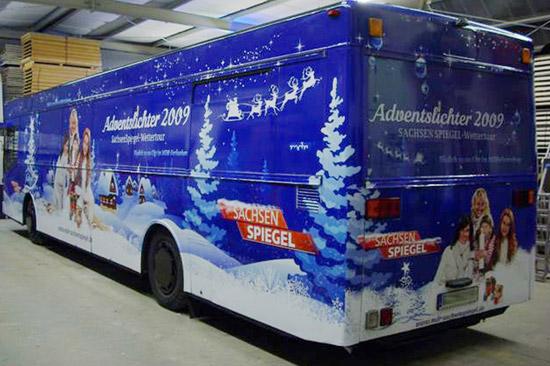 Bus-Beschriftung für die Weihnachts-Promotion-Tour des MDR Sachsen Spiegel_62