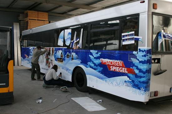 Bus-Beschriftung für die Weihnachts-Promotion-Tour des MDR Sachsen Spiegel_3
